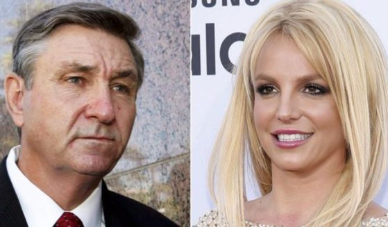 Jamie Spears, left, the father of singer Britney Spears, leaves the Stanley Mosk Courthouse in Los Angeles on Oct. 24, 2012. Britney Spears, right, arrives at the Billboard Music Awards in Las Vegas on May 17, 2015.