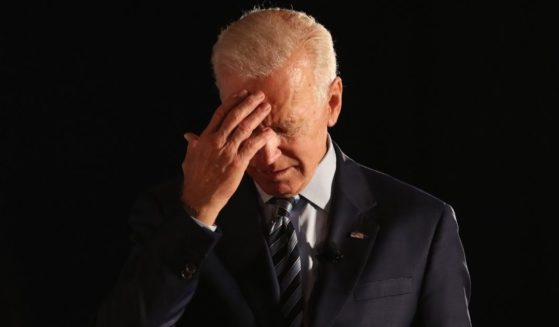 Then-Democratic presidential candidate Joe Biden pauses as he speaks during the AARP and The Des Moines Register Iowa Presidential Candidate Forum at Drake University on July 15, 2019, in Des Moines, Iowa