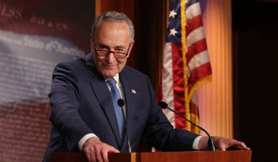 Senate Majority Leader Chuck Schumer, pictured at a Friday news conference in Washington.