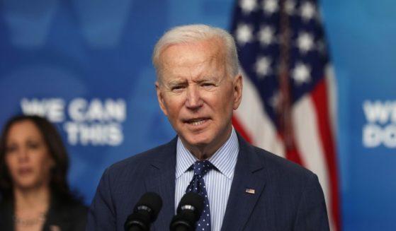 President Joe Biden, pictured speaking in the White House on Wednesday.