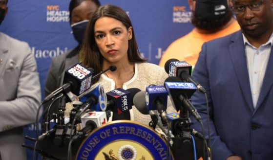 U.S. Rep. Alexandria Ocasio-Cortez, pictured at a news conference last week inNew York City.