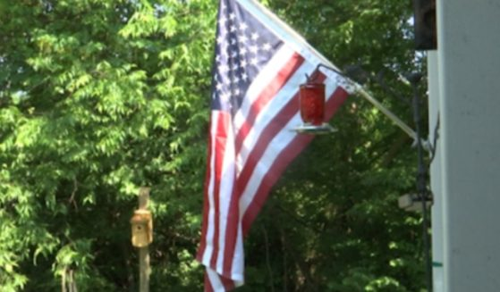 An American flag now waves at the home of Bill Yardley in Knox County, Tennessee.