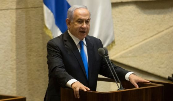 Outgoing Prime Minister Benjamin Netanyahu addresses the Israeli Knesset on Sunday in his final speech before stepping down.