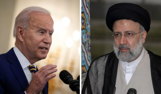 President Joe Biden, left; and Iran's newley electerd president, Ebrahim Raisi, right.