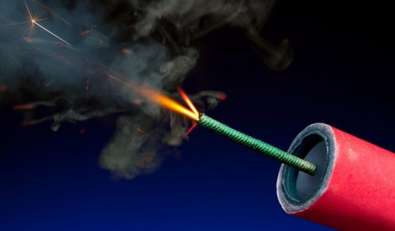 Fireworks are ignited in this stock photo. In New York, authorities say they have found large stocks of illegal fireworks this holiday season.