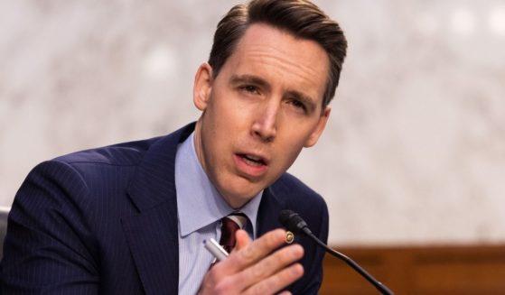 Missouri Sen. Josh Hawley, pictured in a March file photo.