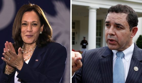 """Vice President Kamala Harris, left, might think her planned trip to the southern border on Friday is going to """"check the box"""" to satisfy her critics. But Texas Democratic Rep. Henry Cuellar, who represents a hard-hit border area, has a different take."""