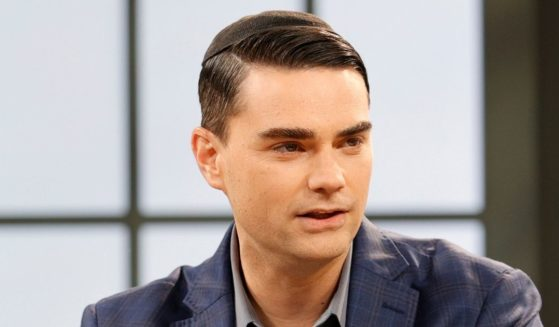 """Political commentator Ben Shapiro is seen on set during a taping of """"Candace"""" on March 17, 2021, in Nashville, Tennessee."""