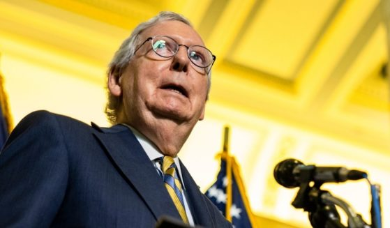 Senate Minority Leader Mitch McConnell speaks during a news conference in the Russell Senate Office Building on Tuesday in Washington, D.C.