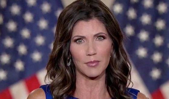 In this screenshot from the RNC's livestream of the 2020 Republican National Convention, South Dakota Gov. Kristi Noem addresses the virtual convention on Aug. 26, 2020.