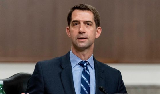 Arkansas Republican Sen. Tom Cotton speaks during a hearing to examine United States Special Operations Command and United States Cyber Command in review of the Defense Authorization Request for fiscal year 2022 and the Future Years Defense Program, on Capitol Hill on March 25 in Washington, D.C.