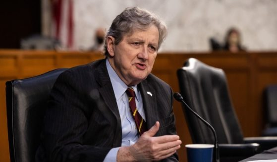 Louisiana Republican Sen. John Kennedy speaks as FBI Director Christopher Wray testifies before the Senate Judiciary Committee about the Jan. 6 attack on the U.S. Capitol on March 2, in Washington, D.C.