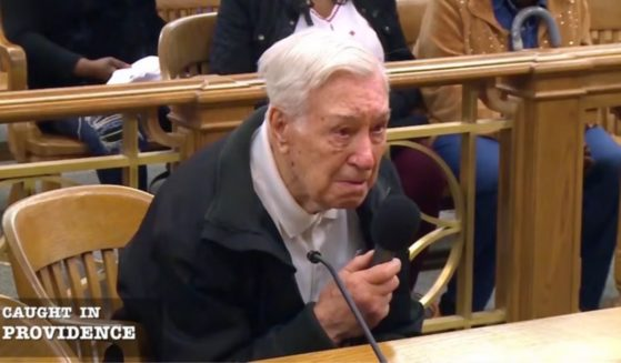 Victor Colello, 96, explaining his story to Judge Frank Caprio.