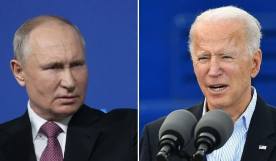 Russian President Vladimir Putin, left, recently expressed his opinions about the Jan. 6 incursion into the U.S. Capitol. U.S. President Joe Biden, right, responded to his remarks.