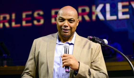 Charles Barkley speaks to guests during the Julius Erving Red Carpet and Pairings Party at Premier Night Club at the Borgata Hotel Casino & Spa on Sept. 8, 2019, in Atlantic City, New Jersey.