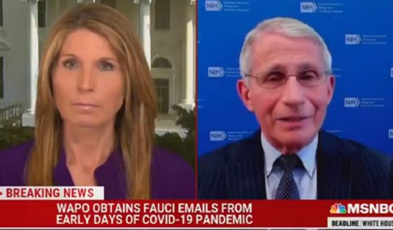 MSNBC's Nicolle Wallace interviews Dr. Anthony Fauci, directior of the National Institute of Allergy and Infectious Diseases, on Wednesday.