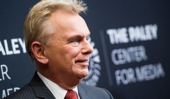 """""""Wheel of Fortune"""" host Pat Sajak is pictured in November 2017. On Monday, Sajak announced that his family's dog, Stella, had died."""