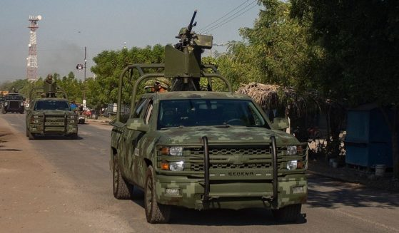 A convoy of vehicles from the Mexican Army patrol in the centralMexican state of Michoacan in an Aprilfile photo.