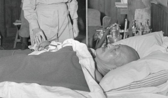 Wartime Japanese Prime Minister Hideki Tojo recovers from a failed suicide attempt.