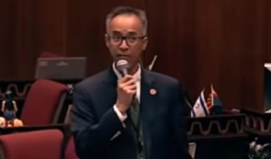 Arizona state Rep. Quang Nguyen delivers a moving speech last week on the House floor in Phoenix.