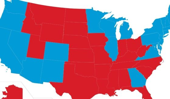 The 2020 election map is seen above.