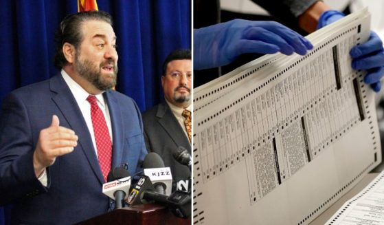 Arizona Attorney General Mark Brnovich, left, spearheaded an election integrity unit which investigated the case of a Maricopa County resident submitting a fraudulent ballot in her dead mother's name.