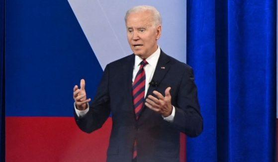 President Joe Biden speaks during a CNN town hall hosted by Don Lemon at Mount St. Joseph University in Cincinnati on Wednesday.