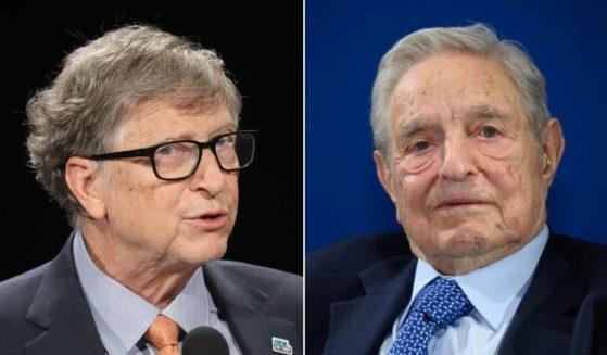 Bill Gates, left, and George Soros, right, have teamed up to purchase a company that produces rapid COVID-19 tests.