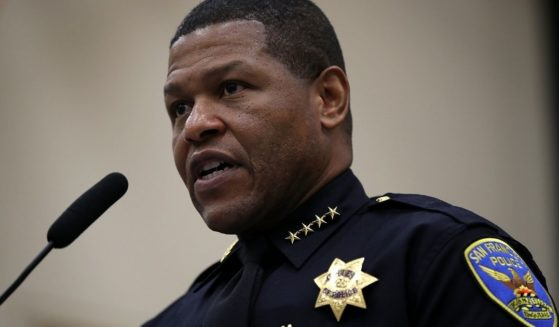 San Francisco Police Chief Bill Scott speaks during a news conference on May 15, 2018, in San Francisco.