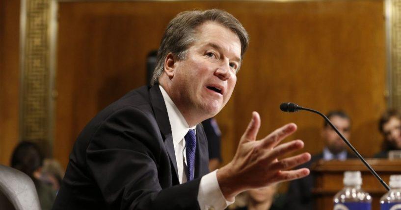 Brett Kavanaugh speaks at his Senate Judiciary Committee hearing on Capitol Hill in Washington, D.C., on Sept. 27, 2018.