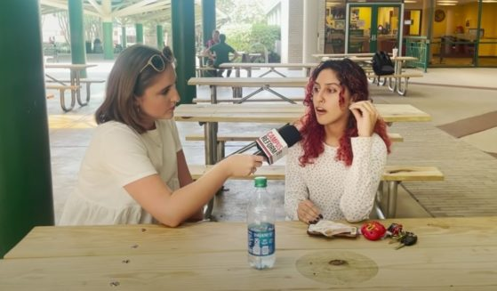 Campus Reform reporter Ophelie Jacobson interviews students at the University of South Florida about the Tokyo Olympics.