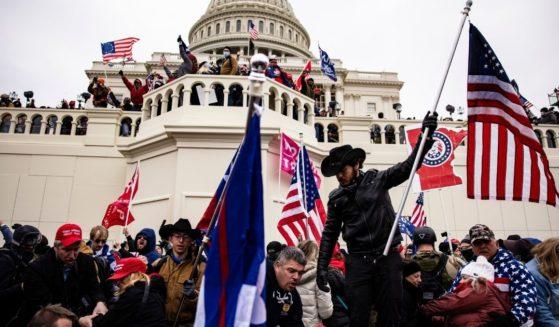 Demonstrators storm the U.S. Capitol on Jan. 6, 2021, in Washington, D.C.
