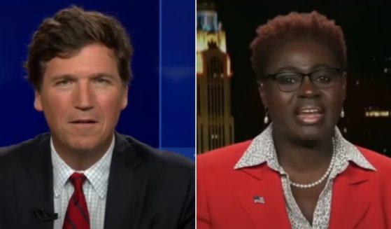 Ruth Edmonds speaks with Tucker Carlson on Fox News.