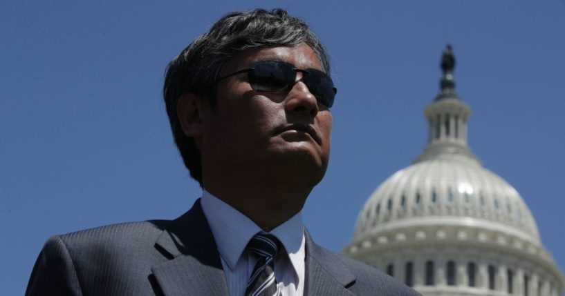 Chinese dissident Chen Guangcheng attends a rally to commemorate the 30th anniversary of the Tiananmen Square massacre on June 4, 2019, at the U.S. Capitol in Washington, D.C.