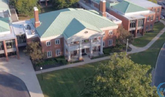 Columbus Academyl, seen from the air.