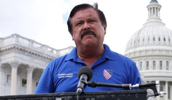 LULAC National President Domingo Garcia speaks during a news conference on Capitol Hill in Washington on July 10, 2020.