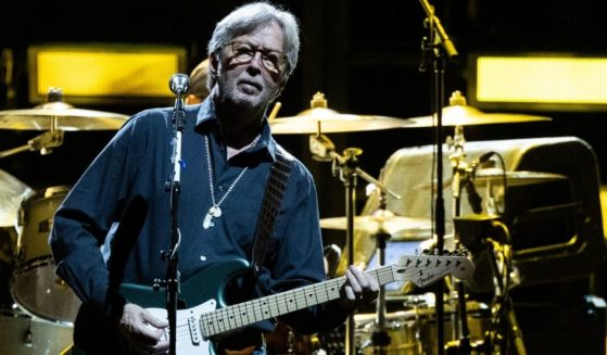 Rock legend Eric Clapton performs during a concert at the Stadthalle in Vienna on June 6, 2019.