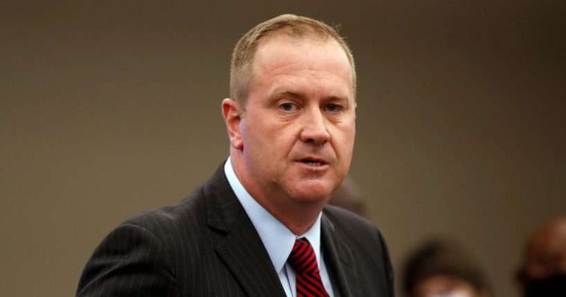 In this Aug. 6, 2020 file photo, Missouri Attorney General Eric Schmitt speaks during a news conference in St. Louis.