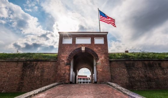 Fort McHenry is pictured in Baltimore, Maryland.