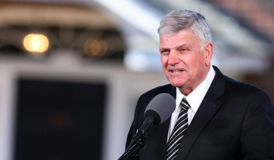 Franklin Graham delivers the eulogy during the funeral of his father, the Rev. Dr. Billy Graham, in Charlotte, North Carolina.