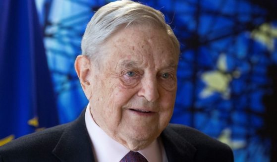 George Soros, founder of the Open Society Foundations, arrives for a meeting in Brussels on April 27, 2017.