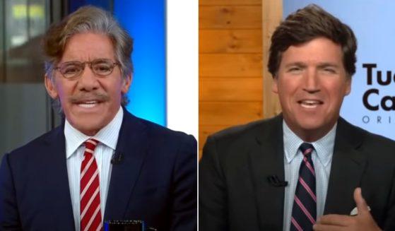 Fox News host Tucker Carlson and network contributor Geraldo Rivera get into a heated dispute.