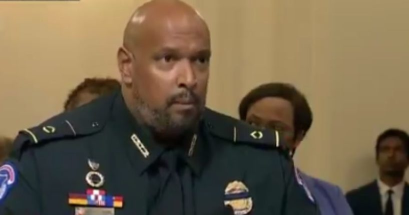 On Tuesday morning, a Capitol Police officer made a blatantly untrue claim during the first day of hearings before the House select committee on the Jan. 6 Capitol incursion.