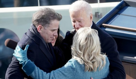 President Joe Biden hugs his wife Jill Biden, son Hunter Biden and daughter Ashley Biden after being sworn in on Jan. 20, 2021, at the U.S. Capitol in Washington, D.C.