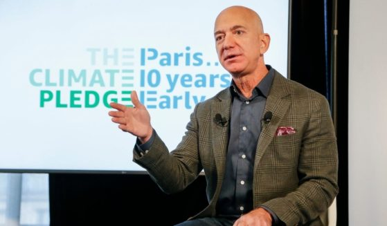 Amazon CEO Jeff Bezos announces the co-founding of The Climate Pledge at the National Press Club on Sept. 19, 2019, in Washington, D.C.