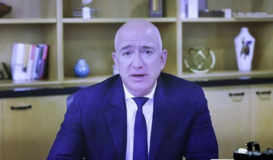 Amazon CEO Jeff Bezos testifies via video conference on July 29, 2020 on Capitol Hill in Washington D.C.