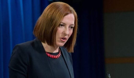 Then-U.S. State Department spokeswoman Jen Psaki speaks at the daily briefing at the State Department in Washington, D.C., on March 10, 2014.
