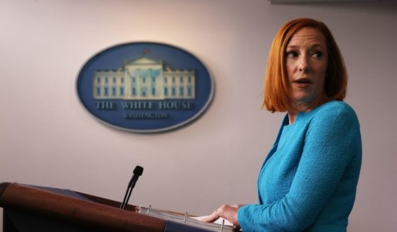 White House Press Secretary Jen Psaki talks to reporters during the daily news conference in the Brady Press Briefing Room at the White House on Thursday in Washington, D.C.