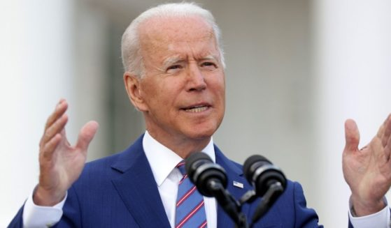 President Joe Biden speaks during a Fourth of July BBQ event to celebrate Independence Day on the South Lawn of the White House on Sunday in Washington, D.C.