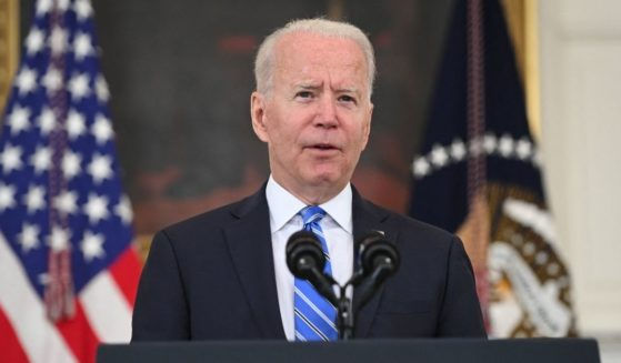 President Joe Biden speaks about the economy during the COVID-19 pandemic in the State Dining Room of the White House in Washington, D.C., on Monday.